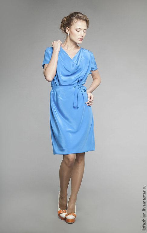 Платья ручной работы. Ярмарка Мастеров - ручная работа. Купить Платье Моника 3180707. Handmade. Бирюзовый, платье летнее