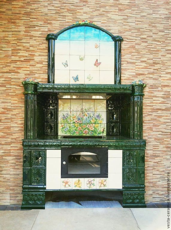 Tiled barbecue 'Summer', Fireplaces, Moscow,  Фото №1
