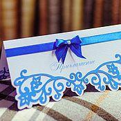 """Свадебный салон ручной работы. Ярмарка Мастеров - ручная работа Приглашение """"Небо на двоих"""". Handmade."""