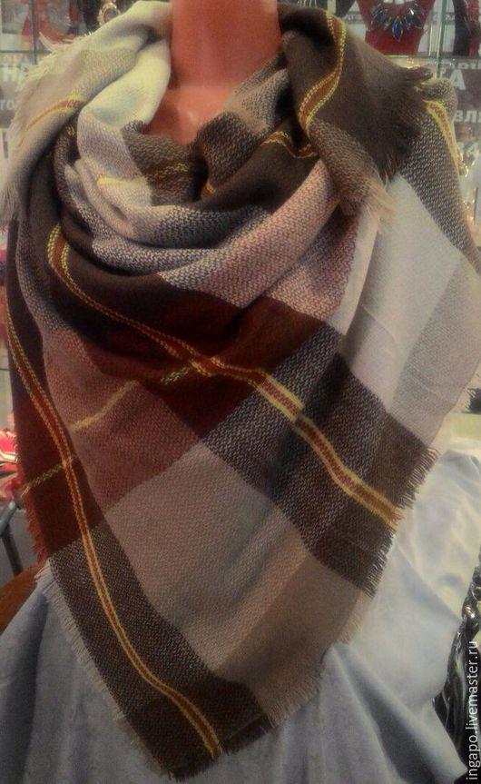"""Шитье ручной работы. Ярмарка Мастеров - ручная работа. Купить Платок """"Шотландия"""" s005. Handmade. Коричневый, большой платок, платок с шерстью"""
