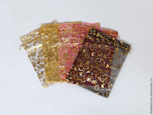 Упаковка ручной работы. Ярмарка Мастеров - ручная работа. Купить Подарочные мешочки из органзы 17х23см. Handmade. Разноцветный, упаковка для подарков
