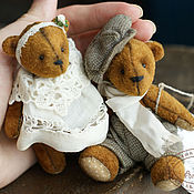 Куклы и игрушки ручной работы. Ярмарка Мастеров - ручная работа Мишки тедди в винтажном стиле Майки и Лили. Handmade.