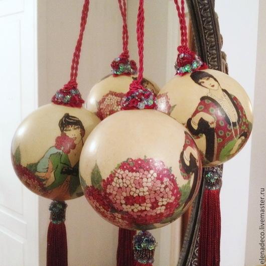 """Подвески ручной работы. Ярмарка Мастеров - ручная работа. Купить """"Женщины"""" Интерьерные шары.. Handmade. Шары, украшение на стену, женщины"""