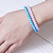 Украшения handmade. Livemaster - original item Delicate bracelet in two rows. Handmade.