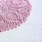 Аксессуары ручной работы. Ярмарка Мастеров - ручная работа Розовая салфеточка. Handmade.