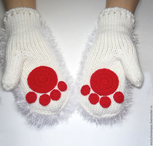 Варежки, митенки, перчатки ручной работы. Ярмарка Мастеров - ручная работа. Купить Варежки для кошечки. Handmade. Варежки, кошка