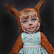 """Коллекционные куклы ручной работы. Ярмарка Мастеров - ручная работа. Купить """"Белочка"""" Теддидолл. Handmade. Рыжий, авторская выкройка"""