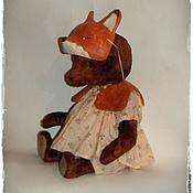 Куклы и игрушки ручной работы. Ярмарка Мастеров - ручная работа Мишка-рыжая плутовка. Handmade.
