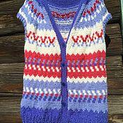Одежда handmade. Livemaster - original item Knitted vest lopapeysa cashmere zip bag blue. Handmade.