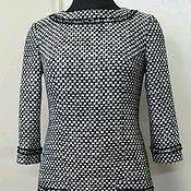 Одежда ручной работы. Ярмарка Мастеров - ручная работа 006:Платье из ткани Шанель, платье из шерсти, теплое платье в офис. Handmade.