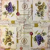 Материалы для творчества ручной работы. Ярмарка Мастеров - ручная работа Вино и виноград. 6 видов. Салфетки для декупажа. Handmade.