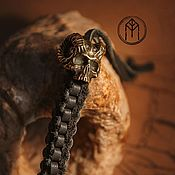 Субкультуры handmade. Livemaster - original item decoration: Brass bead on the lanyard and bracelet