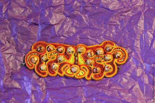 Браслеты ручной работы. Ярмарка Мастеров - ручная работа. Купить браслет с деревянными бусинами. Handmade. Рыжий, бусины деревянные