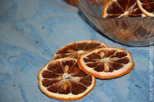 Материалы для флористики ручной работы. Ярмарка Мастеров - ручная работа. Купить сушеные дольки лимона. Handmade. Лимон сушеный