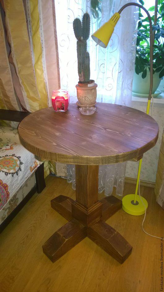 Мебель ручной работы. Ярмарка Мастеров - ручная работа. Купить Стол из массива. Handmade. Коричневый, стол деревянный