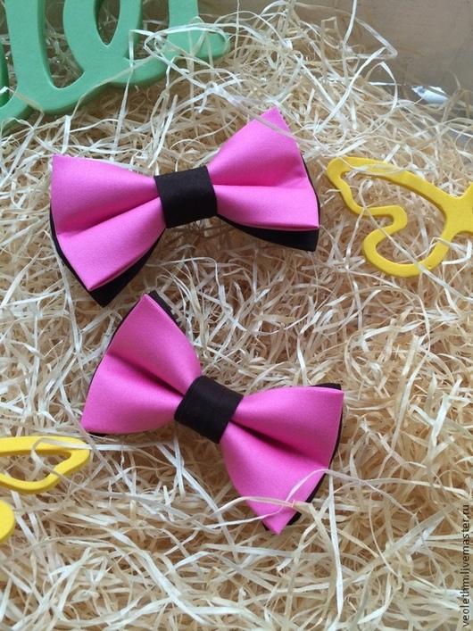 """Галстуки, бабочки ручной работы. Ярмарка Мастеров - ручная работа. Купить Бабочки """"Розовая пантера"""". Handmade. Бабочки, жених"""