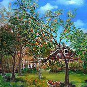 Картины и панно handmade. Livemaster - original item oil painting Apple orchard. Handmade.