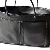Сумки и аксессуары handmade. Livemaster - original item Hand crafted leather bag. Art 149 Vena Black. Handmade.