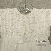 Работы для детей, ручной работы. Ярмарка Мастеров - ручная работа Шелковое платье  для юной подружки невесты Flower Girl. Handmade.