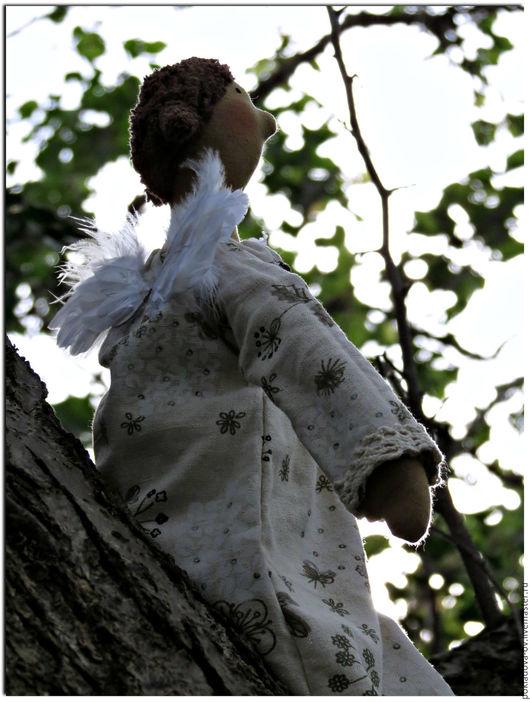 """Куклы Тильды ручной работы. Ярмарка Мастеров - ручная работа. Купить Кукла в стиле Тильда Ангел-хранитель """"Подари мне небо"""". Handmade."""