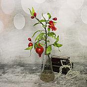 Цветы и флористика handmade. Livemaster - original item Interior flower branch pomegranate pomegranate plant flowering fruit. Handmade.