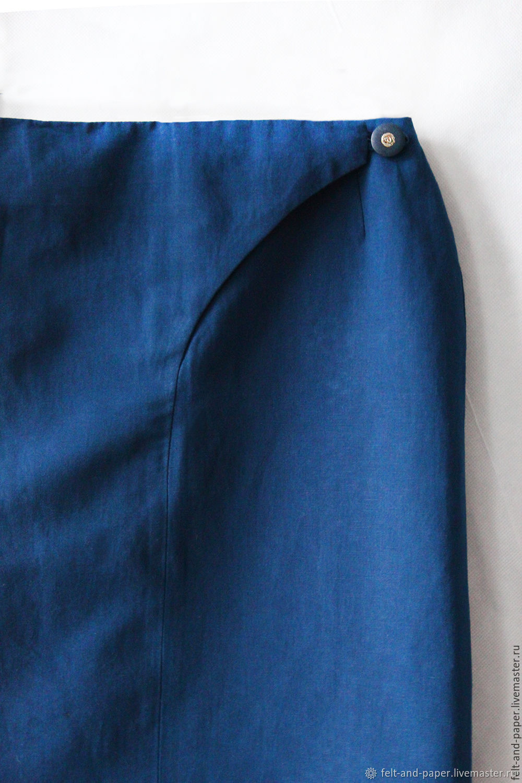 Narrow blue skirt to mid-knee, pencil skirt, Skirts, St. Petersburg,  Фото №1