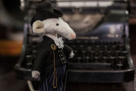Мишки Тедди ручной работы. Ярмарка Мастеров - ручная работа. Купить Крыс Арман. Handmade. Белый, коллекционные игрушки, миништоф