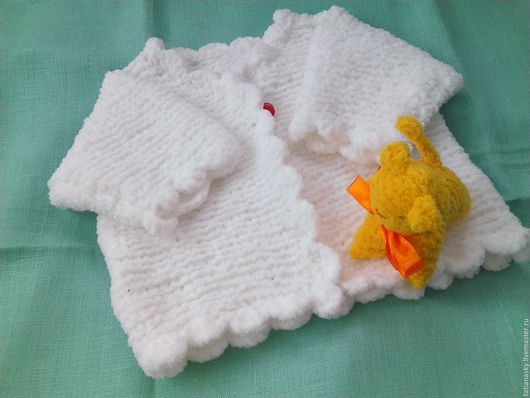 Одежда для девочек, ручной работы. Ярмарка Мастеров - ручная работа. Купить Жакет для девочки белый плюшевый. Handmade. Белый