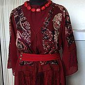 Одежда ручной работы. Ярмарка Мастеров - ручная работа Блуза Гранатовый сок. Handmade.