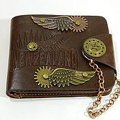 Сумки и аксессуары handmade. Livemaster - original item Brutal steampunk wallet