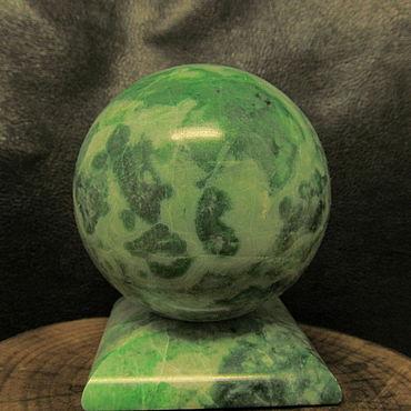 Материалы для творчества ручной работы. Ярмарка Мастеров - ручная работа Шар из лиственита 58 мм. Handmade.