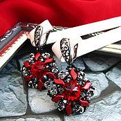 Украшения handmade. Livemaster - original item Red earrings Dance of fire. Handmade.