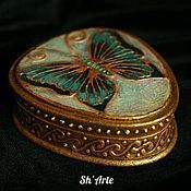 Для дома и интерьера handmade. Livemaster - original item Box Butterfly art Nouveau. Handmade.