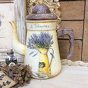 """Для дома и интерьера ручной работы. Ярмарка Мастеров - ручная работа Кофейник """"Provence"""". Handmade."""
