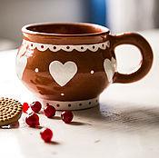 Посуда handmade. Livemaster - original item sugar hearts.. Handmade mug, pottery. Handmade.