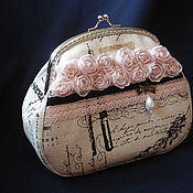 Сумки и аксессуары handmade. Livemaster - original item Wallet-cosmetic bag with clasp Paris secrets. Handmade.