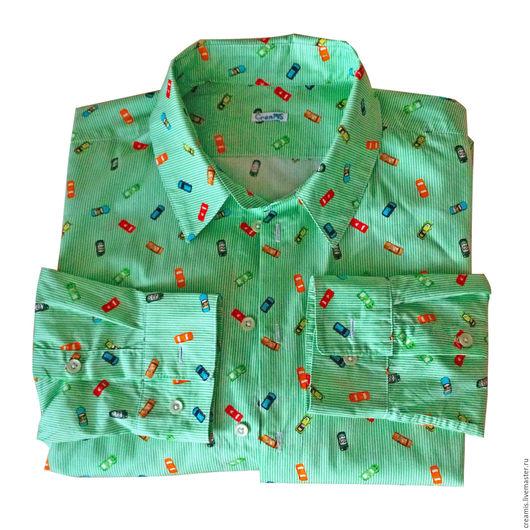 Для мужчин, ручной работы. Ярмарка Мастеров - ручная работа. Купить Мужская рубашка. Handmade. Разноцветный, красивая рубашка
