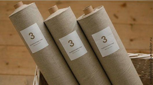 Шитье ручной работы. Ярмарка Мастеров - ручная работа. Купить Неотбеленный лен. Handmade. Бежевый, ткань для шитья, ткани