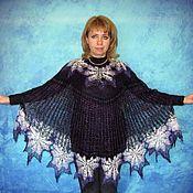 Ponchos handmade. Livemaster - original item Violet poncho,Hand knitted poncho,Crochet poncho,Warm poncho. Handmade.