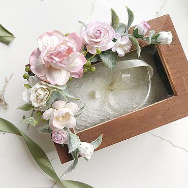 Свадебный салон ручной работы. Ярмарка Мастеров - ручная работа Шкатулка для колец с розовыми цветами. Handmade.