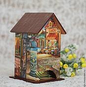 """Для дома и интерьера ручной работы. Ярмарка Мастеров - ручная работа чайный домик """"Тихие улочки"""". Handmade."""