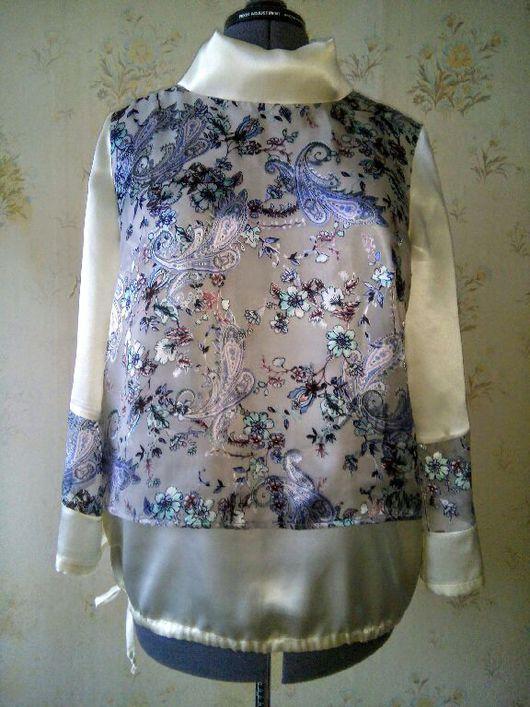 """Блузки ручной работы. Ярмарка Мастеров - ручная работа. Купить Шелковая блузка """" Деворе """".. Handmade. Блузка, цветочный"""