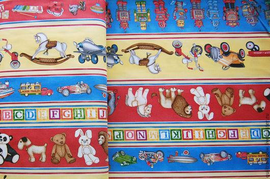 """Шитье ручной работы. Ярмарка Мастеров - ручная работа. Купить Хлопок """"Игрушки"""". Handmade. Хлопок, ткань для творчества, ткань для кукол"""