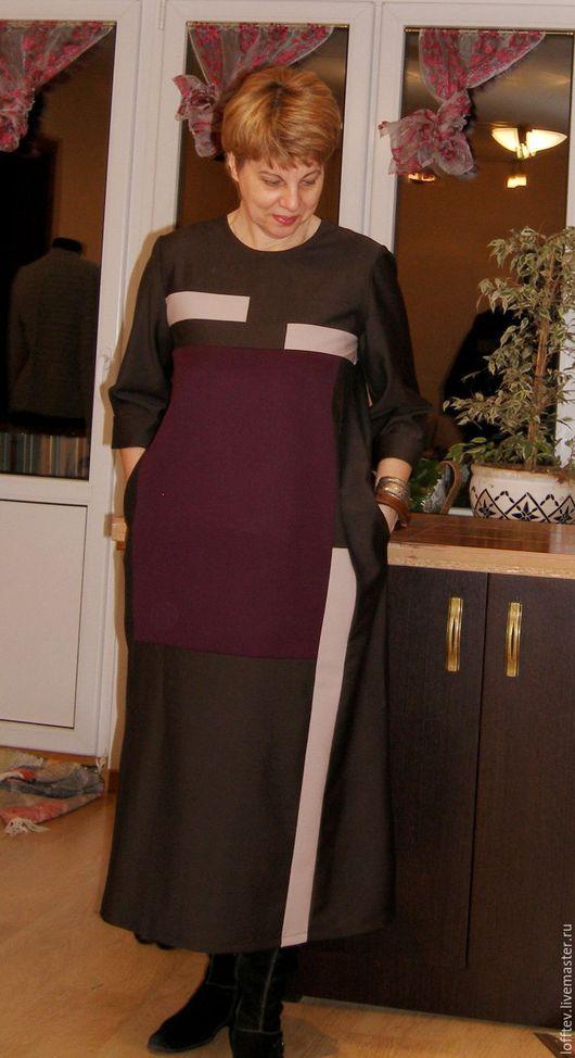 Платья ручной работы. Ярмарка Мастеров - ручная работа. Купить Платье Бохо шерстяное техника пэчворк карманы в боковых швах. Handmade.