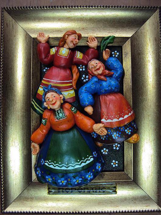 """Юмор ручной работы. Ярмарка Мастеров - ручная работа. Купить """"Перепляс"""". Handmade. Картина, сувенир, рамка"""