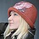 """Шляпы ручной работы. Шляпка """"Сложные оттенки"""". Рыжий. Shellen's HATS. Интернет-магазин Ярмарка Мастеров. Зима, орнамент"""