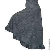 Одежда ручной работы. Ярмарка Мастеров - ручная работа Юбка длинная вельветовая с запАхом серая. Handmade.