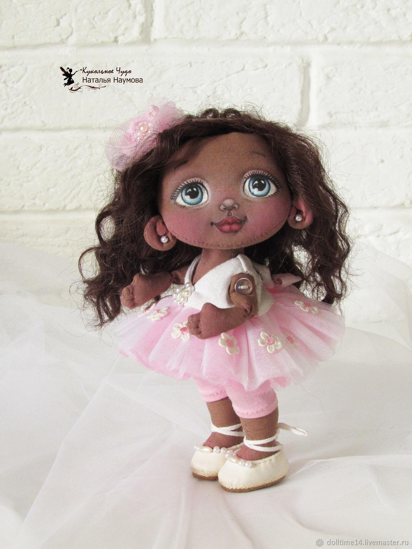 Dolls and dolls: Textile doll Little ballerina, Dolls, Trehgornyi,  Фото №1