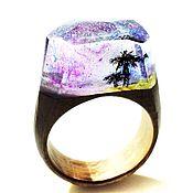 """Украшения handmade. Livemaster - original item Деревянное кольцо """"Пляж"""". Handmade."""