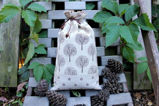 """Кухня ручной работы. Ярмарка Мастеров - ручная работа. Купить Льняной мешочек для хранения """"Дары природы"""". Handmade. Серый"""